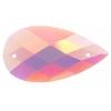 Opal Bright Sew-on Stone 10pcs Drop 16x30mm Pink Aurora Borealis